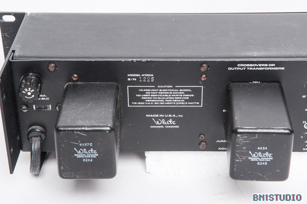 White Instruments 4100A Stereo Equaliser